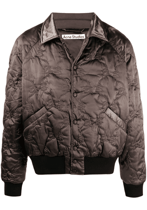 Acne Studios quilted bomber jacket - Brown
