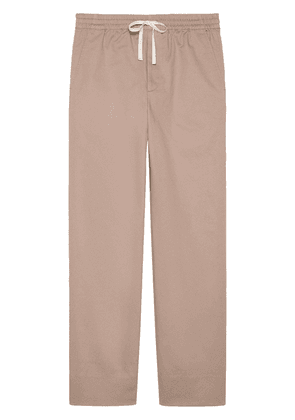 Gucci straight-leg drawstring-fastening trousers - Neutrals