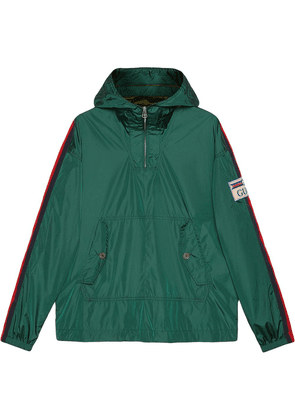 Gucci logo-patch hooded raincoat - Green