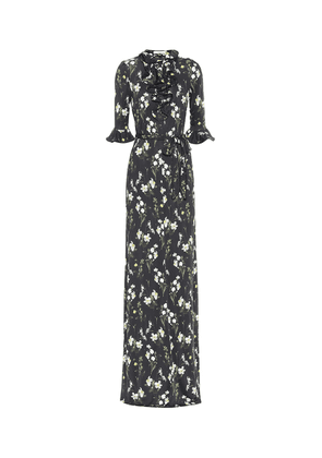 Farrell floral jersey gown