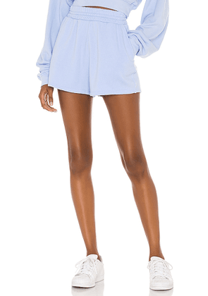 Lovers + Friends Elastic Waist Short in Baby Blue. Size S.
