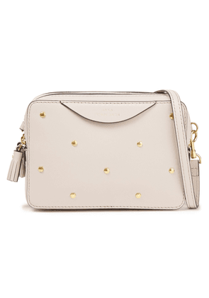 Anya Hindmarch Studded Leather Shoulder Bag Woman Ecru Size --