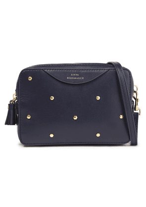 Anya Hindmarch Studded Leather Shoulder Bag Woman Navy Size --