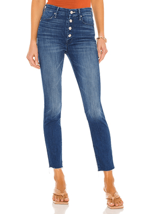 MOTHER The Pixie Ankle Fray in Blue. Size 24, 25, 26, 27, 28, 29, 30, 32.