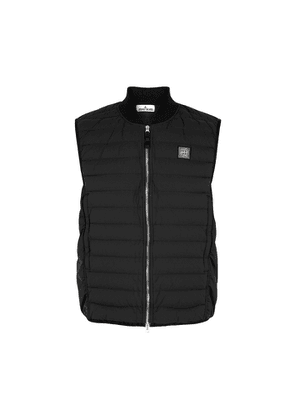 Stone Island G0225 Black Quilted Shell Gilet