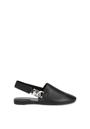 Givenchy G Chain Black Leather Mules