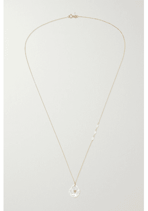 Poppy Finch - 14-karat Gold, Pearl And Ruby Necklace