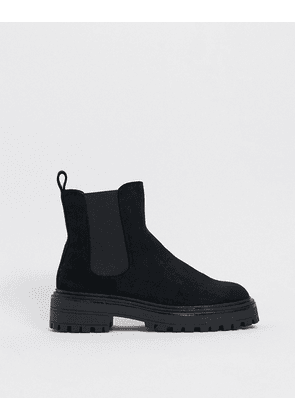 ASOS DESIGN Angelina chunky chelsea boots in black