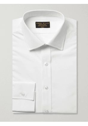EMMA WILLIS - White Slim-Fit Cotton Shirt - Men - White - UK/US 15