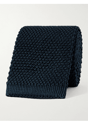 ANDERSON & SHEPPARD - 7cm Knitted Silk Tie - Men - Blue - one size