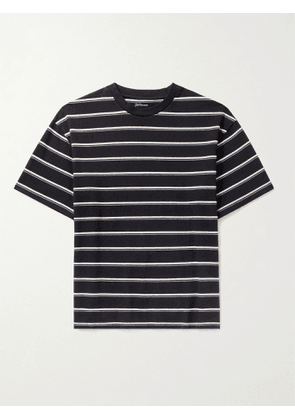 BELLEROSE - Vlug Striped Cotton-Jersey T-Shirt - Men - Blue - S