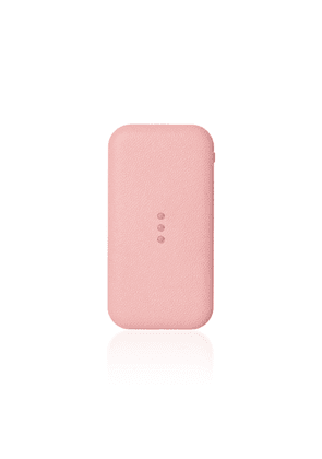 Courant - Carry Leather Wireless Phone Charger - Color: Pink - Material:  Aluminum Alloy; Italian Leather; Nylon - Moda Operandi