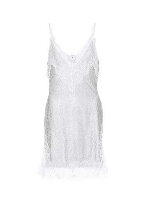 Bridal lace crystal mesh minidress