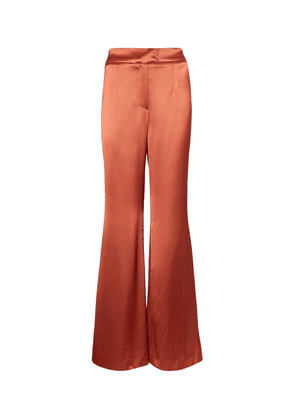 Julianne high-rise wide satin pants