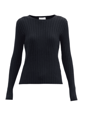 Allude - Ribbed Wool-blend Sweater - Womens - Black