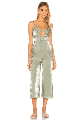 Song of Style Carter Jumpsuit in Sage. Size L, XXL.