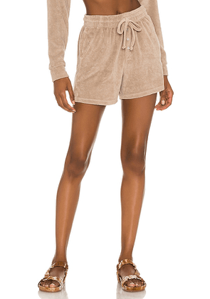 DONNI. Terry Henley Short in Beige. Size S, M, L.