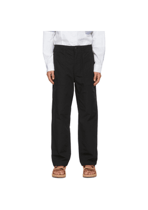 Engineered Garments Black Ripstop Fatigue Trousers