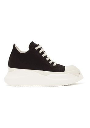 Rick Owens Drkshdw Black Canvas Abstract Low Sneakers