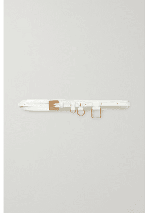 Jacquemus - Leather Waist Belt - White