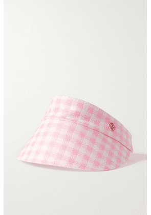 Maison Michel - Claudia Reversible Gingham Canvas And Cotton Visor - Baby pink