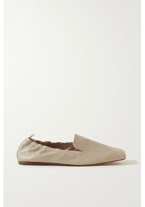 Porte & Paire - Leather Loafers - Beige