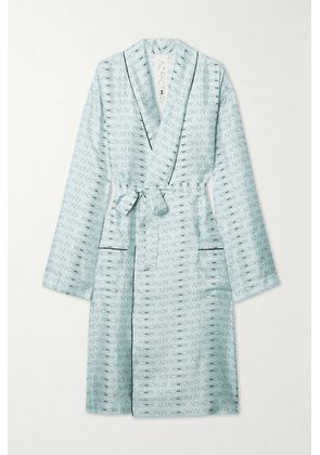 AZ Factory - Pijama Look But Don't Touch Silk-twill Robe - Blue