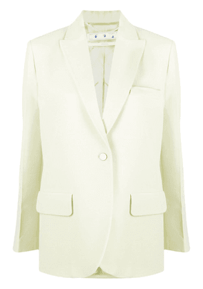 Off-White single-breasted tailored blazer - Green