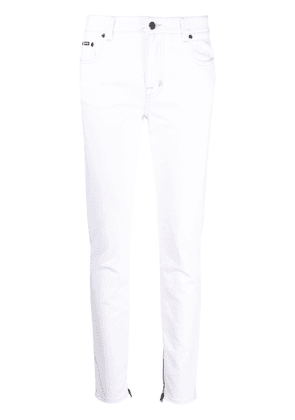TOM FORD logo-embroidered skinny jeans - White