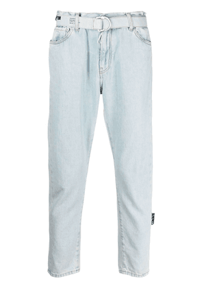Off-White belted cropped jeans - Blue