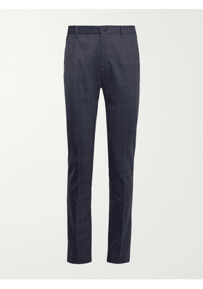 INCOTEX - Urban Traveller Slim-Fit Checked Stretch-Twill Trousers - Men - Blue - IT 50