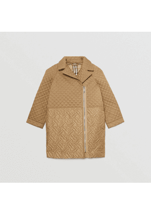 Burberry Childrens Monogram Quilted Recycled Polyester Coat, Brown