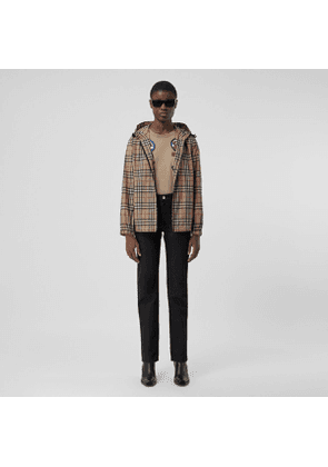 Burberry Vintage Check Recycled Polyester Hooded Jacket, Beige
