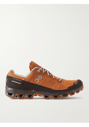 ON - Cloudventure Rubber-Trimmed Mesh Trail Running Sneakers - Men - Brown - US 8.5