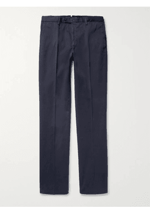 INCOTEX - Four Season Relaxed-Fit Cotton-Blend Chinos - Men - Blue - IT 52