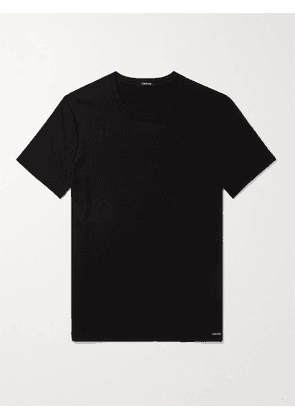 TOM FORD - Slim-Fit Stretch Cotton-Jersey T-Shirt - Men - Black - M