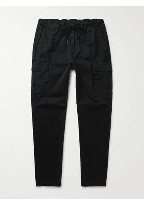 POLO RALPH LAUREN - Tapered Stretch-Cotton Twill Drawstring Cargo Trousers - Men - Black - 28W 32L