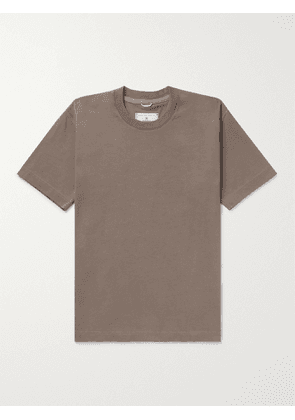 REIGNING CHAMP - Cotton-Jersey T-Shirt - Men - Brown - XS