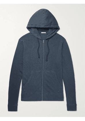 JAMES PERSE - Supima Cotton-Jersey Hoodie - Men - Blue - 1