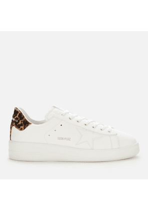 Golden Goose Deluxe Brand Men's Pure Star Chunky Leather Trainers - White/Leopard - UK 7
