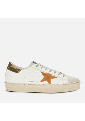 Golden Goose Deluxe Brand Men's Hi Star Leather Trainers - White/Ice/Brown - UK 7