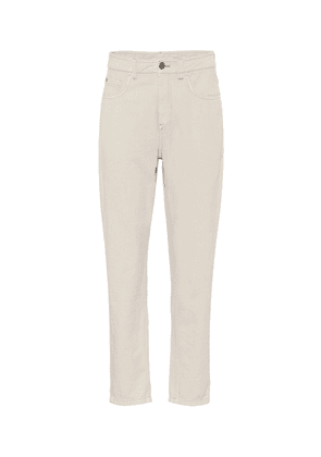 High-rise relaxed-straight jeans