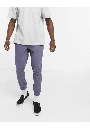 ASOS DESIGN tapered chino joggers in blue-Grey
