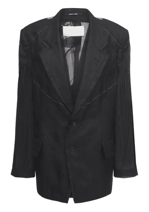 Silk Twill Herringbone Jacket