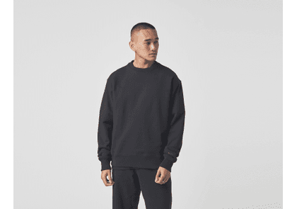 adidas Originals x Pharrell Williams Basics Crew Sweatshirt, BLK/BLK