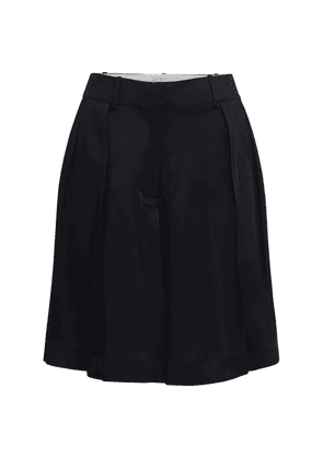 Isabelle Pleated Crepe Shorts
