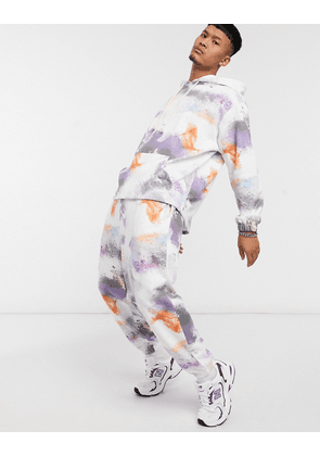 ASOS DESIGN co-ord oversized joggers with all over print-Multi