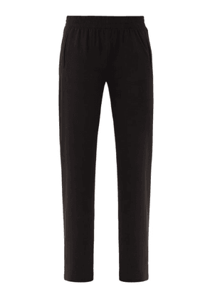 Norma Kamali - Elasticated-waist Jersey Track Pants - Womens - Black