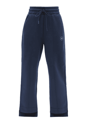 Adidas By Stella Mccartney - High-rise Jersey Track Pants - Womens - Navy