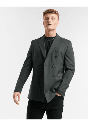 Selected Homme suit jacket double breasted green